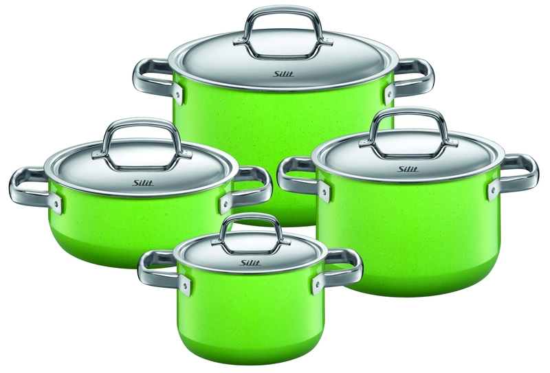 silit cookware sets 4 pcs lemon green. Black Bedroom Furniture Sets. Home Design Ideas